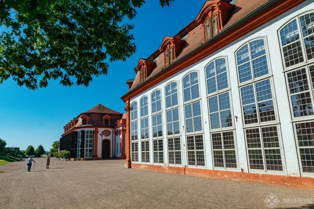 The huge orangery of Seehof palace a bit further outside Bamberg