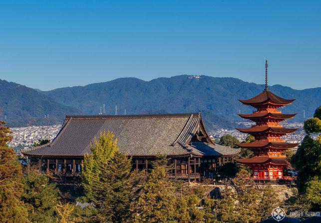 SenjokakuHal and Gojunoto pagoda on Miyajima Island