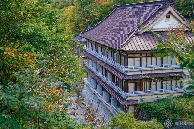 The main building (not the annex!) of Takaragawa Onsen