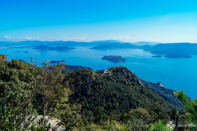 View of the Japanese Inland Sea from the summit of Mt Misen on Miyajima