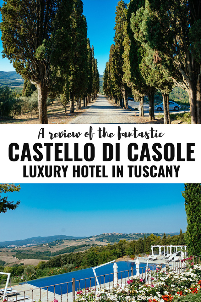 Belmond Castello di Casole review. Everything you need to know about the luxury hotel in Tuscany, Italy. Is it worth it and what to expect.
