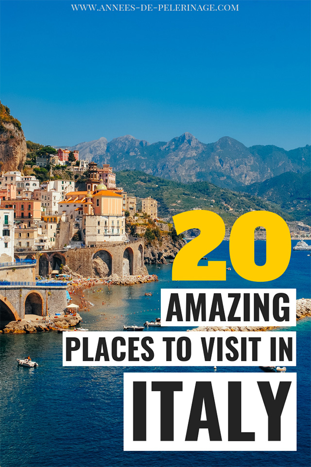 The 20 best places to visit in Italy. A detailed Italy travel guide with all the points of interest and top tourist attractions. When to visit and what to see, learn all about the best things to do in Italy in this blog.