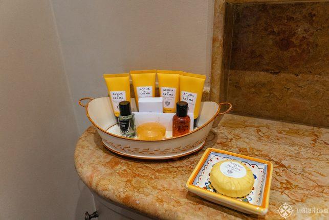 complimentary Aqua di Parma amenities
