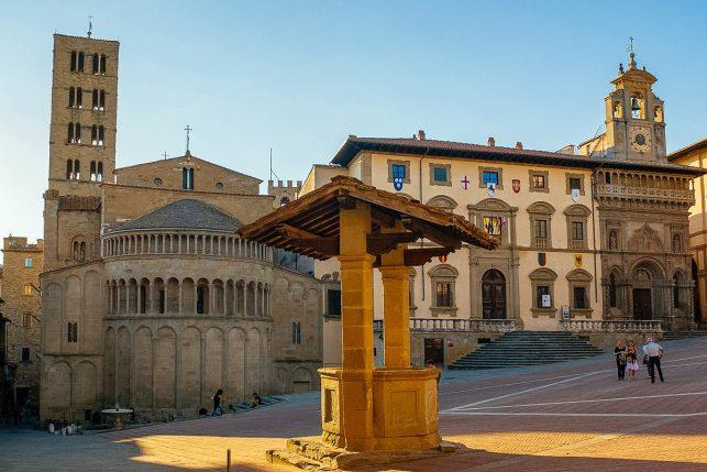 The main square in Arezzo, Tuscany