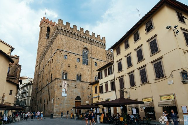 The ancient building of the Palazzo del Bargello where you'll find the National Musuem in Florence