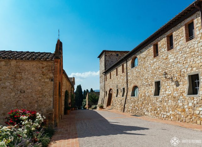 A lot of hotels (like this one) were built in abandoned old villages in Tuscan - the Belmond Castello di Casole is one of them
