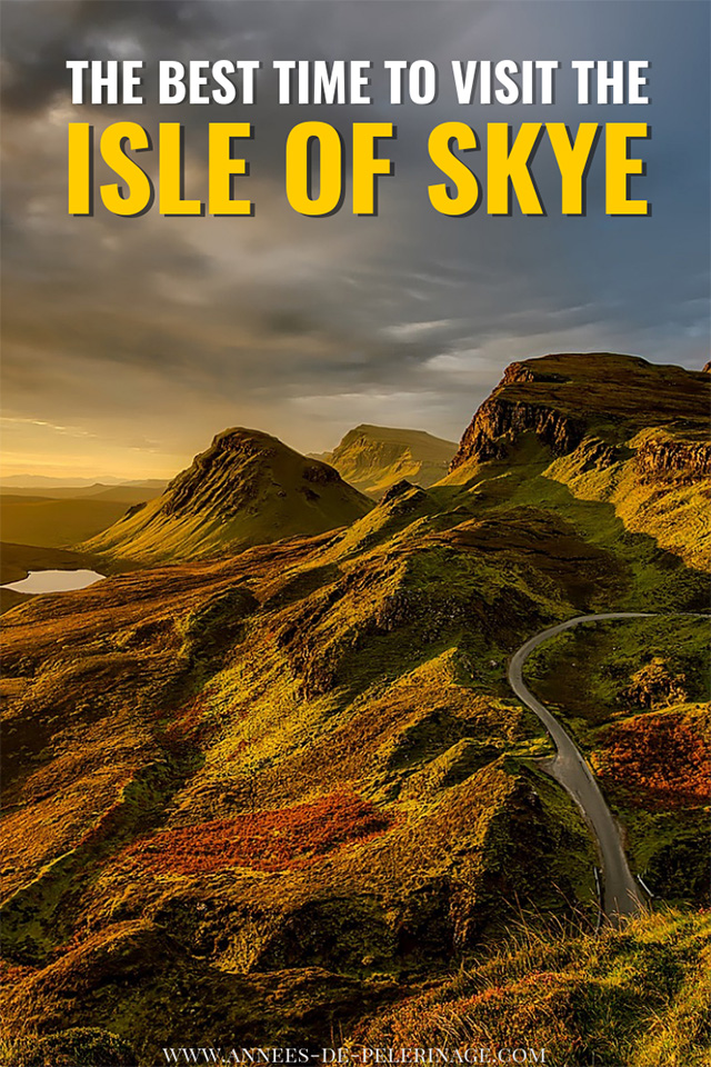The best time to visit the Isle of Skye - a detailed travel guide with a month by month analysis of the Isle of Skye weather and everthing else you need to plan your perfect Scotland itinerary.