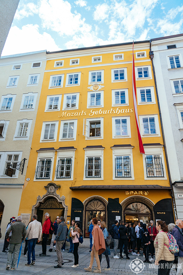 Mozart's birth house in the Getreidegasse in Salzburg, Austria