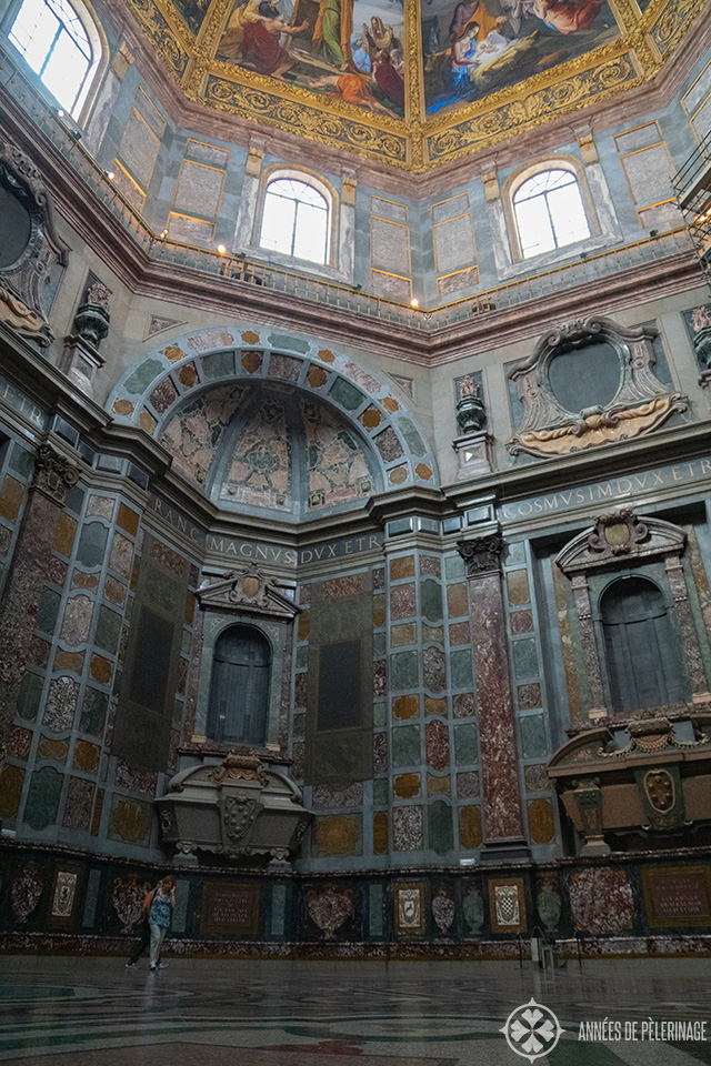 Inside the Medici Chapel in Florence - as part of San Lorenzo Basilica