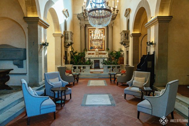The historic chapel in the main building of the Belmond Villa San Michele in Florence, Italy
