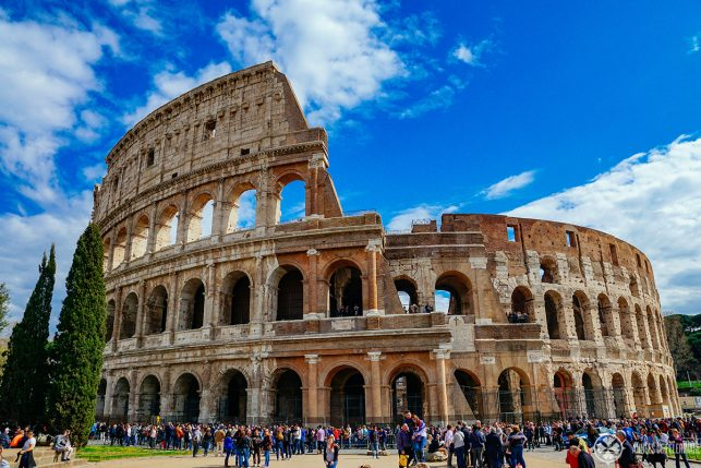 The Coliseum in Rome - one of the most spectacular UNESCO World Heritages sites in italy