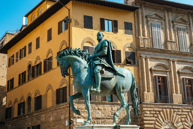 The Equestrian Monument of Cosimo I. on the Piazza della Signoria