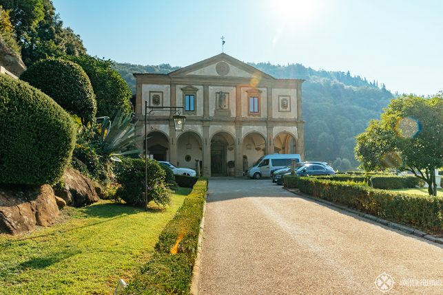 The historic main building of Villa San Michele - one of the best luxury hotels in Florence and run by Belmond