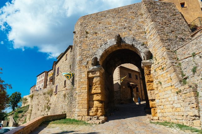 The 4th century BC Porta all'Arco in Volterra, Tuscany