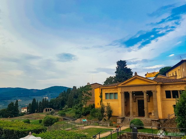The Etruscan museum in Fiesole with the Roman theater below