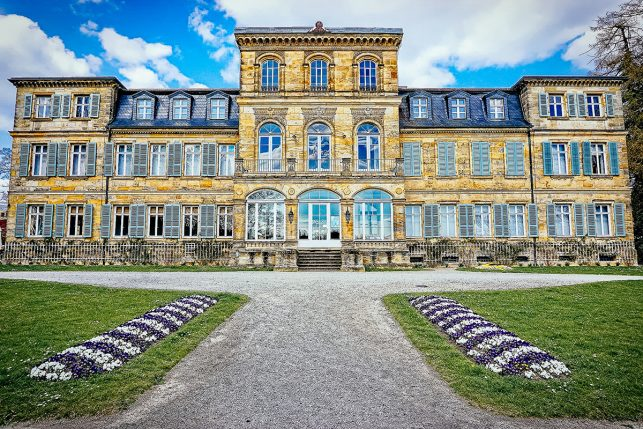 The main building of Fantaisie palace near Bayreuth, Germany
