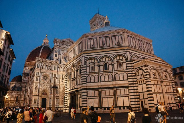 The Baptistery of Saint John at night in Florence