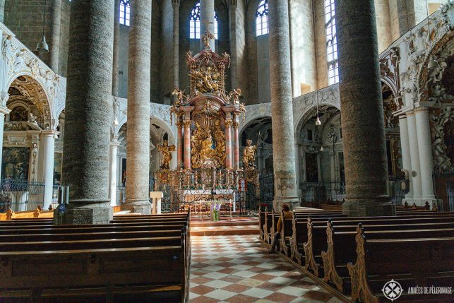 Inside the Franciscan Church - one of Salzburg's hidden gems
