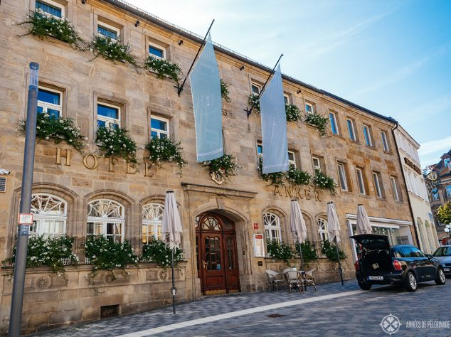 The historic Hotel Goldener Anker in Bayreuth, Germany