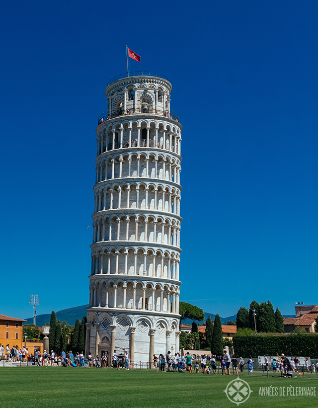 The Leaning Tower of Pisa - one of the most iconic sights in Tuscany, ITaly.
