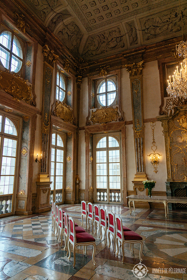 The Marbel Chamber inside Mirabell Palace