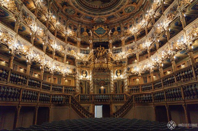 The lavish auditorium of the Margravial Opera house - A UNESCO World Heritage site