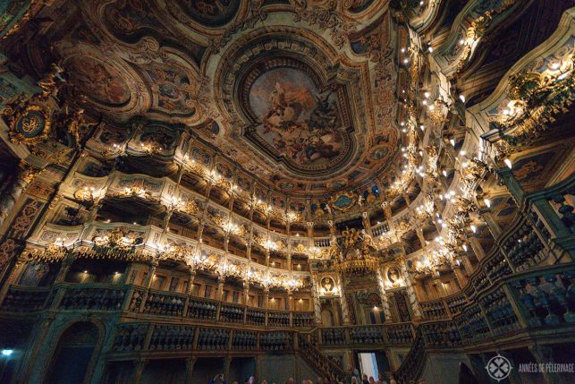 The margravial Opera house in Bayreuth - one of the best day trips from Munich