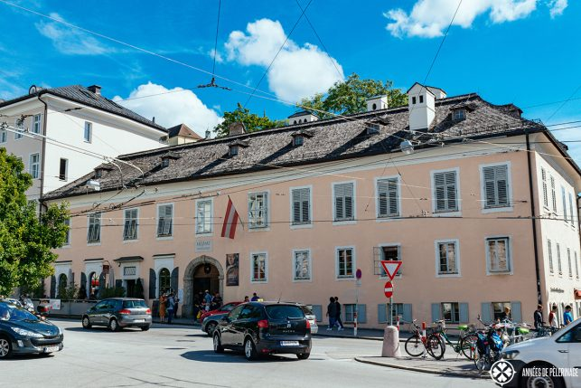 The living house of the Mozart family - one of the best places to visit in Salzburg if you are a fan of classical music