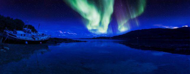 Aurora Borealis (Northern Light) in Scotland