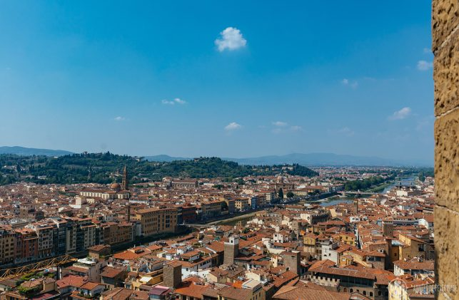 Florence from above as seen from the Palazzo Vecchio