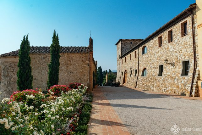 Old buildings at Belmond Castello Di Casole luxury hotel