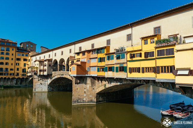 Close-up of the fantastic Ponte Vecchio bridge in Florence, Italy