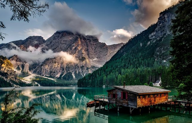 Lake Prags in the Dolomites, Italy