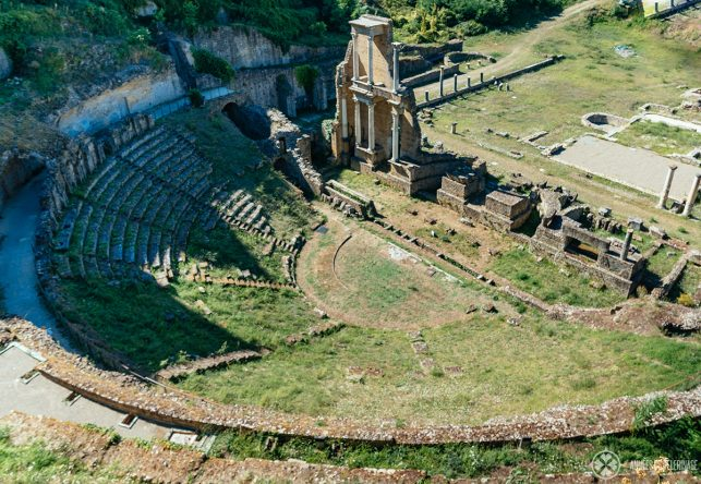 The old Roman theater in Volterra