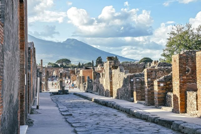 The ruins of Pompeii, Italy