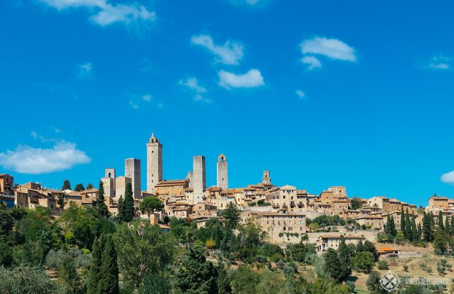 The medieval UNESCO World Heritage site San Gimignano in Tuscany