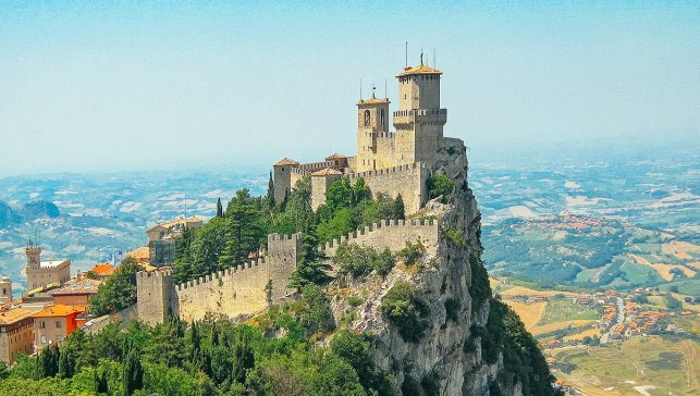 The three towers of San Marino
