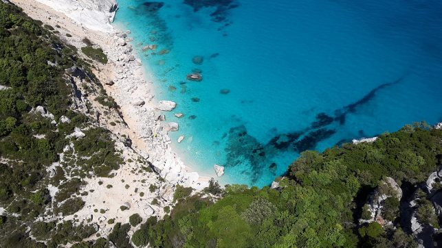 Aerial view of one of Sardinia's pristine beaches