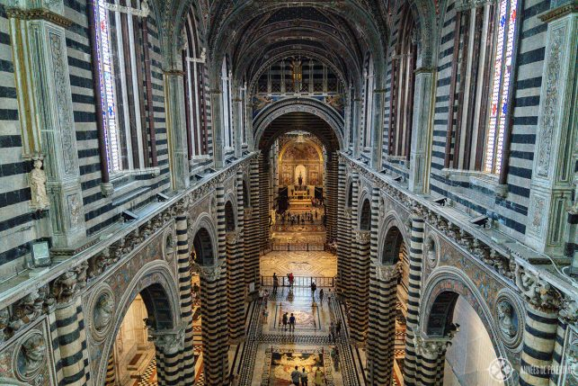 Inside Siena cathedral - a unique UNESCO World Heritate site in Italy