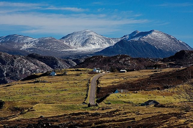 A dusting of snow in the Highlands of Scotland