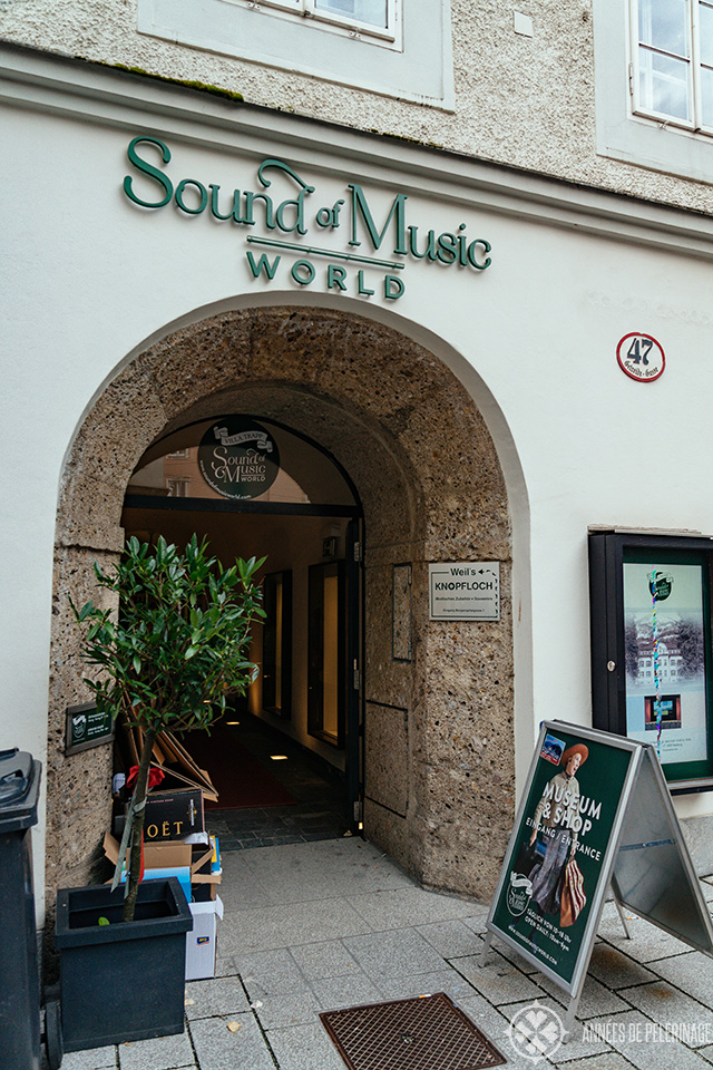 The entrance of the Sound of Music World in Salzburg