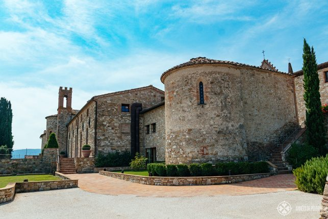 The spa is located in this historic outbuilding of the Castello di Casole estate