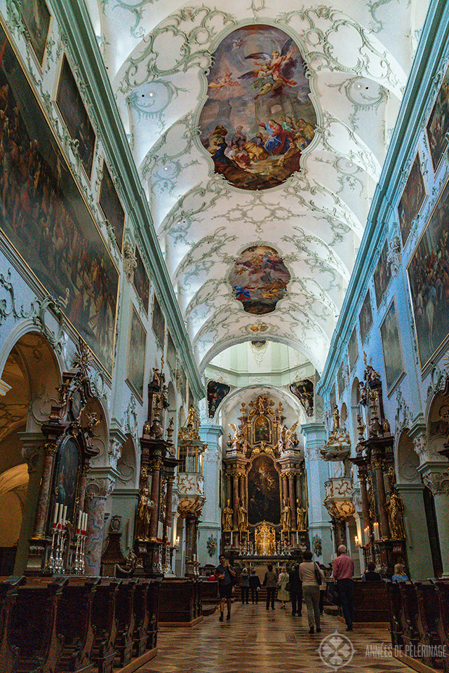 Inside the church of St. Peter's Abbey
