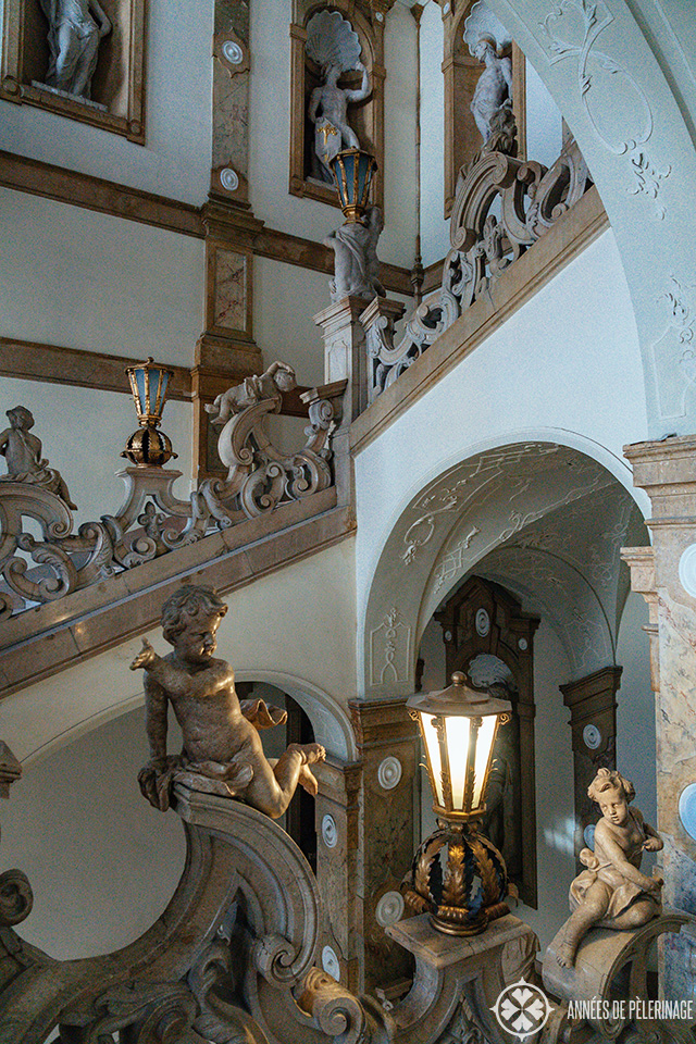 The famous staircase of Mirabell Palace