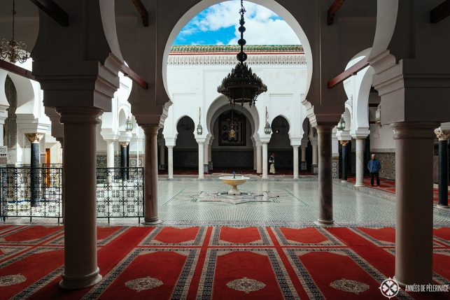 A courtyard that the wonderful Zaouia Moulay Idriss in Fez, Morocco