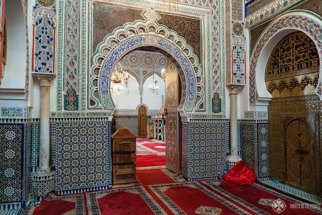 Entrance to the inner sanctum of the Zaouia Moulay Idriss in Fez