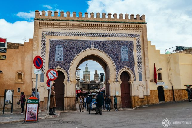 The wonderful Blue Gate - one of the top tourist attractions in Fez