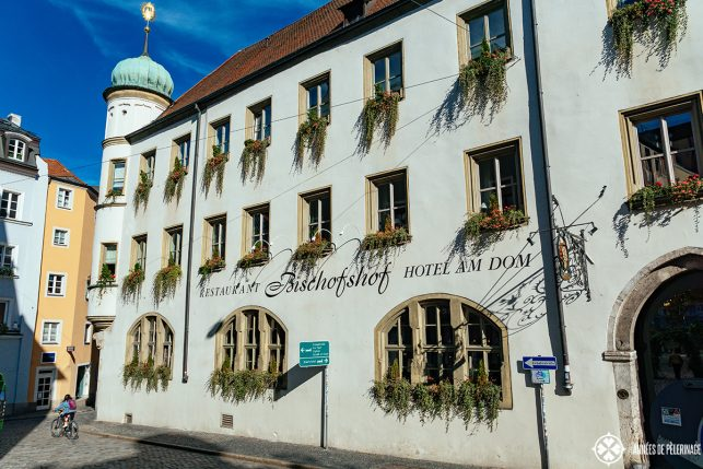 The Bischofshof hotel - probably the best hotel in Regensburg but probably not the cheapest