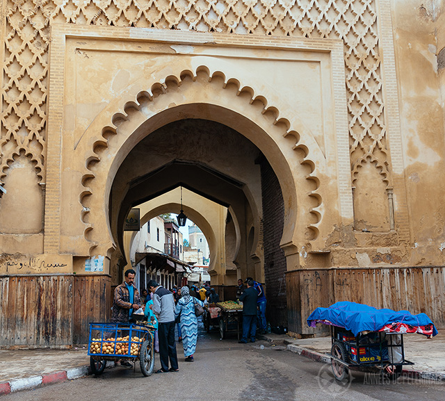 One of the ancient city gates of the Fez Medina