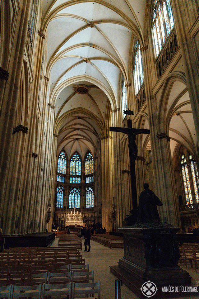 Inside St. Peter's Cathedral in Regensburg